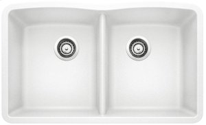 Blanco Diamond Equal Double Bowl - White