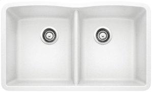 Blanco Diamond Equal Double Bowl - White