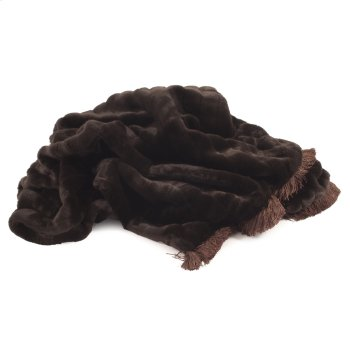 Throw Mink Brown with Fringe Product Image