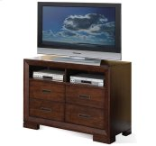 Riata Media Chest Warm Walnut finish