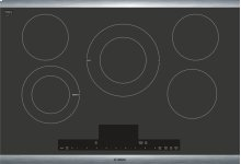 """Benchmark® 30"""" Electric Cooktop Benchmark® Series - Black with Stainless Steel Frame NETP068SUC"""
