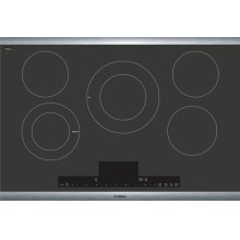 "Benchmark® 30"" Touch Control Electric Cooktop, NETP068SUC, Black with Stainless Steel Frame"