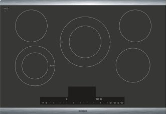 """Benchmark(R) 30"""" Electric Cooktop Benchmark(R) Series - Black with Stainless Steel Frame NETP068SUC"""