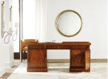 French Modern Desk, Rosewood Veneer. Solid Brass Hardware.