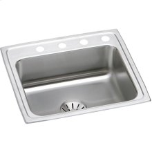 "Elkay Lustertone Classic Stainless Steel 22"" x 19-1/2"" x 10-1/8"", Single Bowl Drop-in Sink with Perfect Drain"