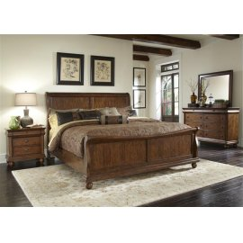Rustic Traditions Sleigh Bed King