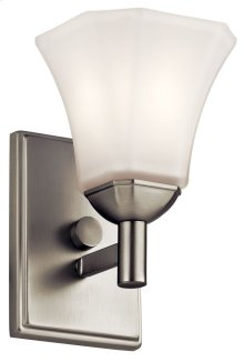 Serina 1 Light Wall Sconce Brushed Nickel
