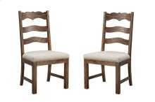 Emerald Home Chambers Bay Side Chair Slat Back Upholstered Seat Pine-hand Scraped Antique D312-22