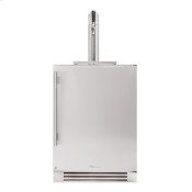 24 Inch Single Tap Solid Stainless Door Right Hinge Undercounter Beverage Dispenser