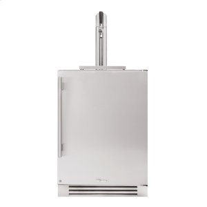 True Residential24 Inch Single Tap Solid Stainless Door Right Hinge Undercounter Beverage Dispenser