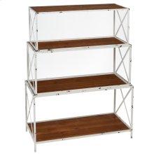 Distressed White Nested Bookshelf (3 pc. set)