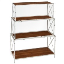 Distressed White Nested Bookshelf (3 pc. set)