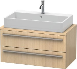 X-large Vanity Unit For Console Compact, Mediterranean Oak (real Wood Veneer)