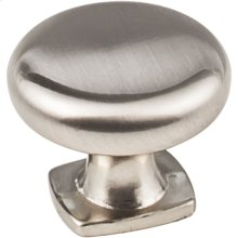 "1-3/8"" Diameter Forged Look Flat Bottom Cabinet Knob."