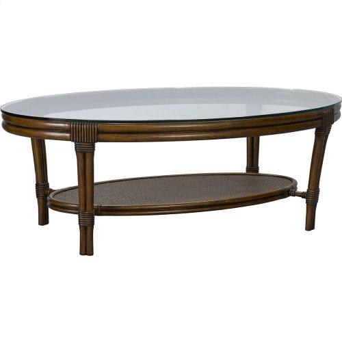 Amalie Bay Oval Cocktail Table