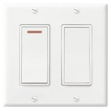 2-Function Control, 120V, 20amps, White