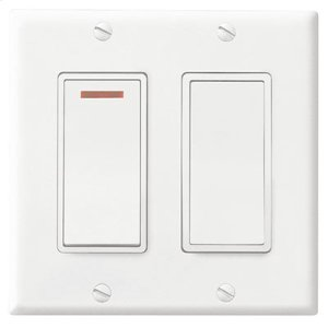 Broan2-Function Control, 120V, 20amps, White