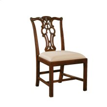 CARVED MAHOGANY CHIPPENDALE SIDE CHAIR
