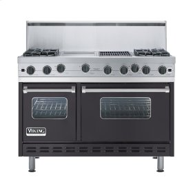 "Graphite Gray 48"" Open Burner Range - VGIC (48"" wide, four burners 12"" wide griddle/simmer plate 12"" wide char-grill)"