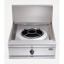 "Brushed Stainless Steel 24"" Prof. Wok Cooktop"