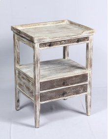 Emerald Home Ac126 Edgewood Accent Table, Weathered Wood