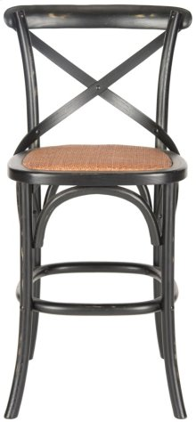 Franklin X Back Counterstool - Distressed Hickory