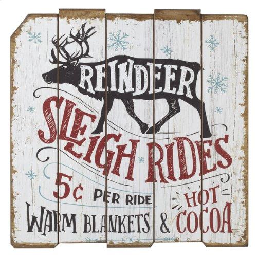 """""""Reindeer Sleigh Ride"""" Wall Decor."""