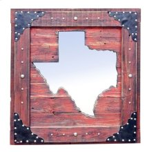 Large Red Texas Mirror Da