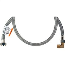 Braided Stainless Steel Dishwasher Connectors with Elbow (6ft)