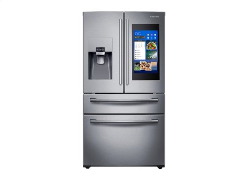 28 cu. ft. 4-Door French Door with 21.5 in. Connected Touch Screen Family Hub Refrigerator