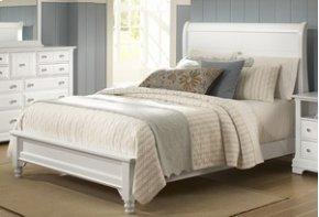 Sleigh Platform Bed (Queen)