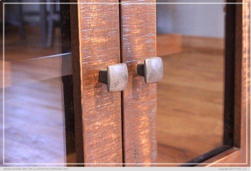 "69"" Console w/6 Glass doors"