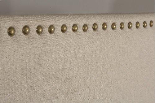 Megan King Bed - Sandstone Linen