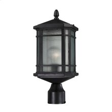 Lowell 1-Light Outdoor Post Lantern in Matte Black