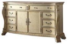 Monaco Antique White Dresser - 74''L x 20''D x 40''H