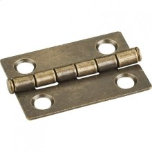 "Antique Brass 1-1/2"" x 1-1/16"" Single Half Swaged Butt Hinge"
