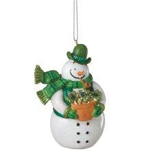 Irish Snowman Ornament.