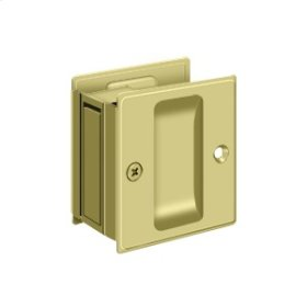 "Pocket Lock, 2 1/2""x 2 3/4"" Passage - Polished Brass"