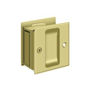 "Pocket Lock, 2 1/2""x 2 3/4"" Passage - Polished Brass"