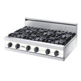 "Cotton White 36"" Open Burner Rangetop - VGRT (36"" wide, six burners)"