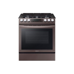 Samsung Appliances5.8 cu. ft. Slide-in Gas Range with Convection in Tuscan Stainless Steel