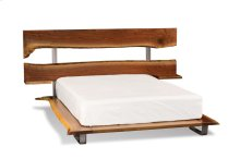 CityScape Platform Bed, Split Headboard with Nightstand Shelves, CityScape Platinum Platform Bed, Split Headboard with Nightstand Shelves, California King