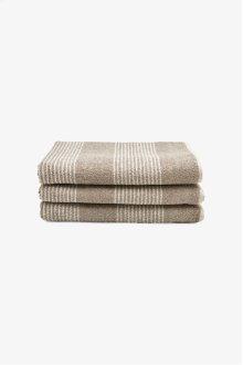 Tasha Bath Towel Linen with Cream Stripes STYLE: THBT02