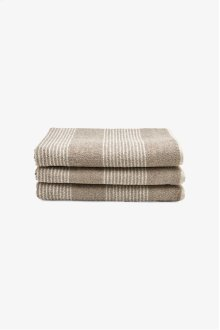 Tasha Bath Towel Linen with Cream Stripes STYLE: THBT02