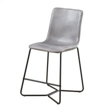 Gray 24'' Barstool W/ Upholstered Seat & Back