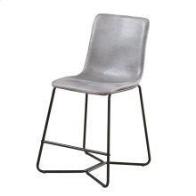 Gray 24'' Barstool W/ Upholstered Seat & Back