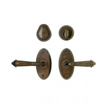 "Oval Entry Set - 2 5/8"" x 5 1/4"" White Bronze Light"