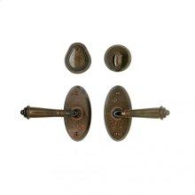 "Oval Entry Set - 2 5/8"" x 5 1/4"" White Bronze Medium"