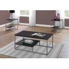 TABLE SET - 3PCS SET / CAPPUCCINO / SILVER METAL Product Image