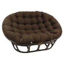 Bali Mamasan Rattan Double Papasan Chair with Twill Cushion - Walnut/Chocolate